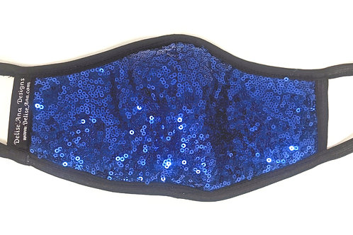 Adult Sequin Mask: Royal Blue