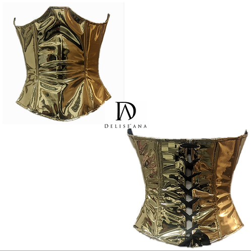Gold Chrome Bustier