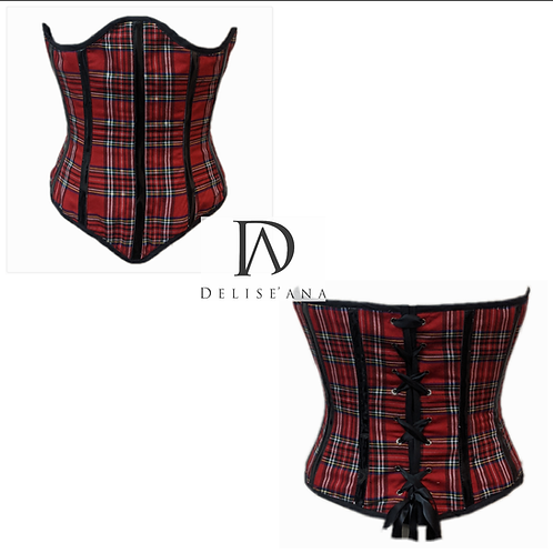 Red Plaid Bustier