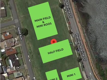 Field Layout Nield Park