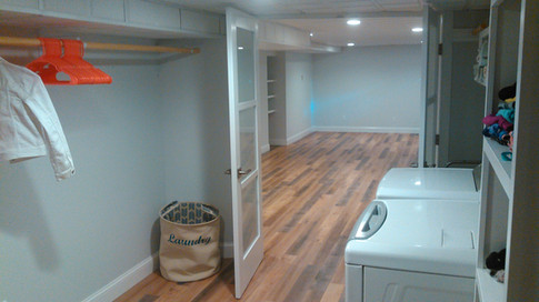 Longmeadow Basement Remodel and Laundry Area