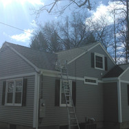 AFTER - Side View with new transom window, custom siding and trim