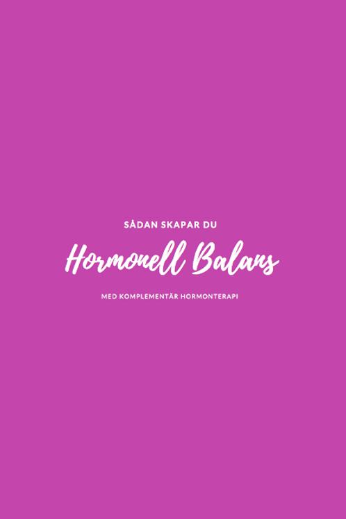 "E-bok ""Hormonell Balans"""