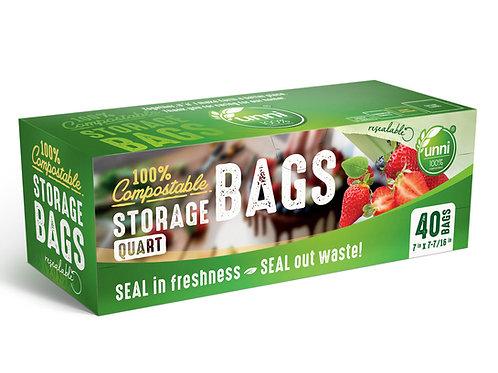 Compostable Storage Bags, Quart