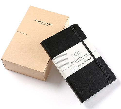 """3-Pack, Classic Hard Cover Notebook - 5 X 8.3"""" - Black"""
