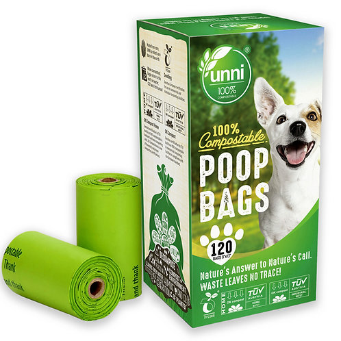 Dog Waste Poop Bags, 120 Count, 8 Refill Rolls