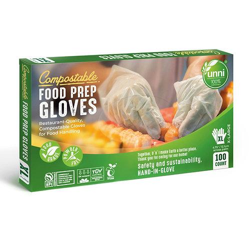 Compostable Food Prep Gloves, X-Large