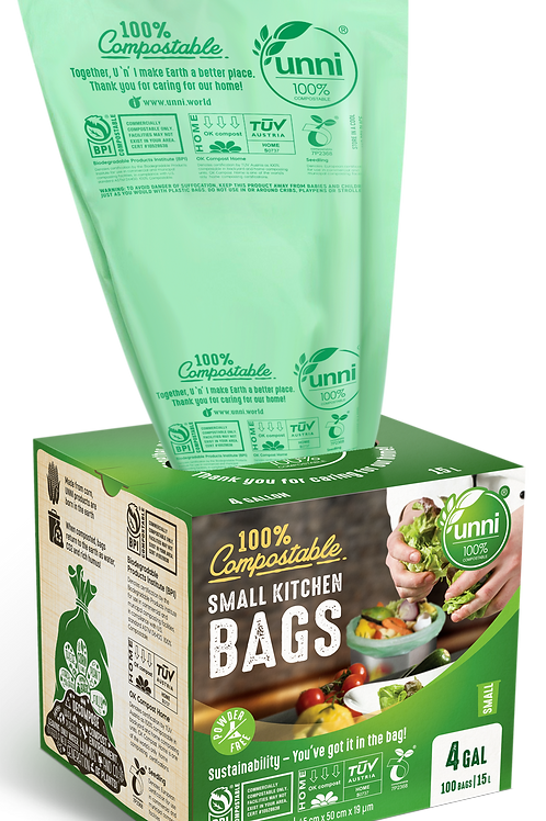 4 Gallon Compostable Small Garbage Bags
