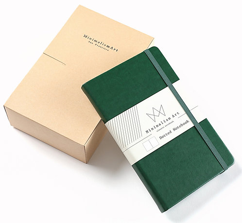 "3-Pack, Classic Hard Cover Notebook - 5 X 8.3"" - Green"