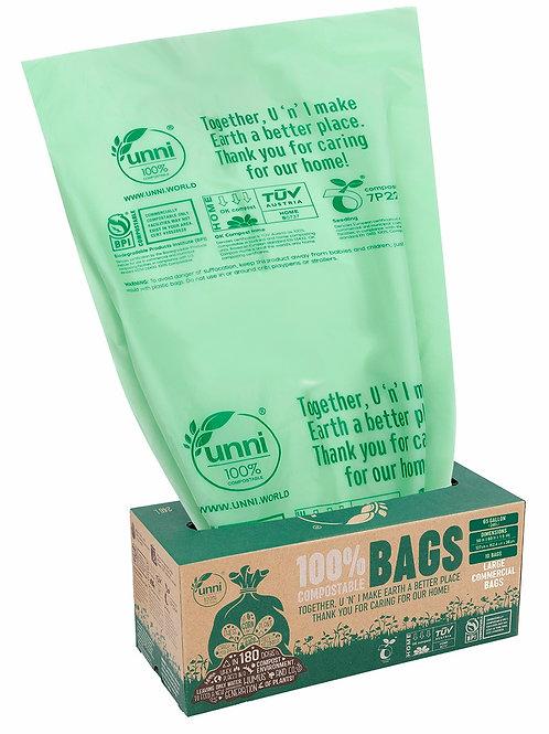65 Gallon Compostable Large Trash Bags