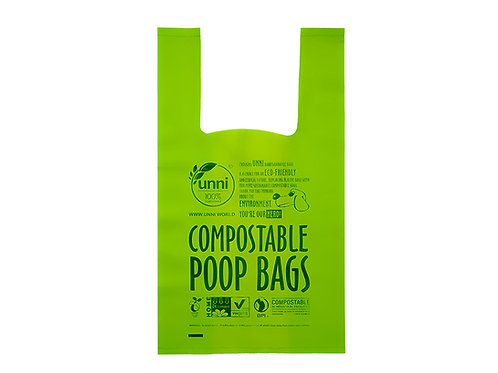 Dog Waste Poop Bags with Easy-tie Handles