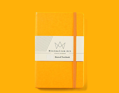 """Classic Hard Cover Notebook - 5 X 8.3"""" - Yellow"""