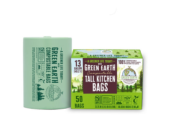 13 Gallon Compostable Trash Bags