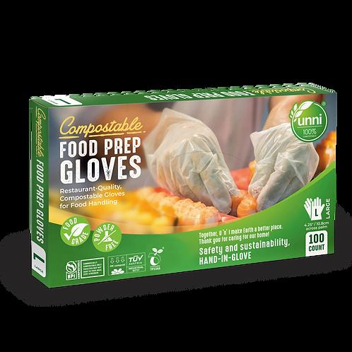 Compostable Food Prep Gloves,  Large