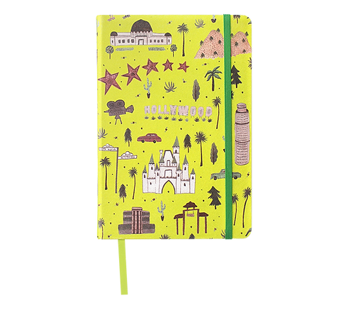 Hard Cover Notebook - Linen Fabric - Los Angeles