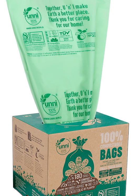 3 Gallon Compostable Small Food Scrap Bags