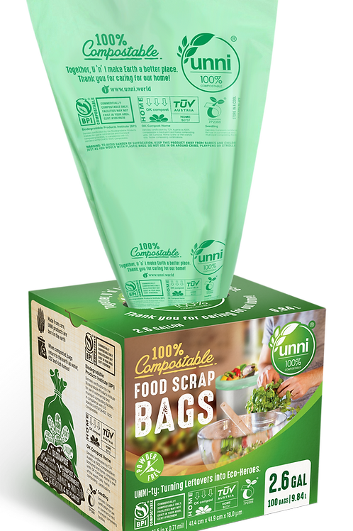 2.6 Gallon Compostable Small Food Scrap Bags
