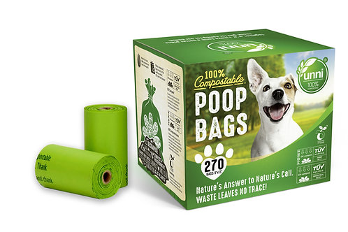 Dog Waste Poop Bags, 270 Count, 18 Refill Rolls