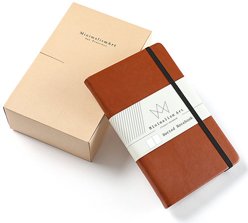 "3-Pack, Classic Hard Cover Notebook - 5 X 8.3"" -Brown"