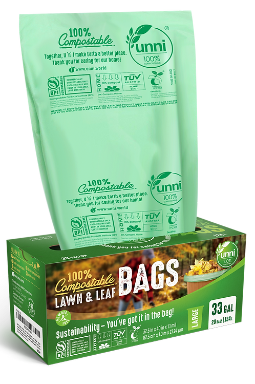 33 Gallon Compostable Lawn & Leaf Waste Bags