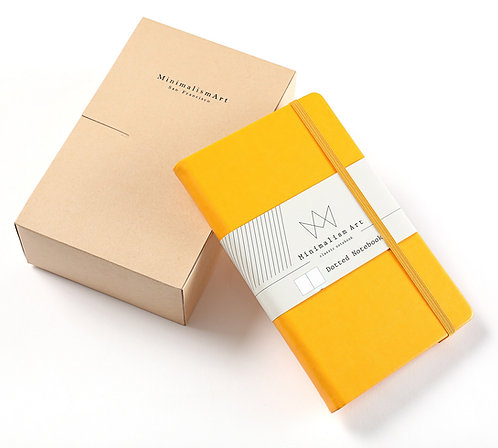 """3-Pack, Classic Hard Cover Notebook - 5 X 8.3"""" - Yellow"""