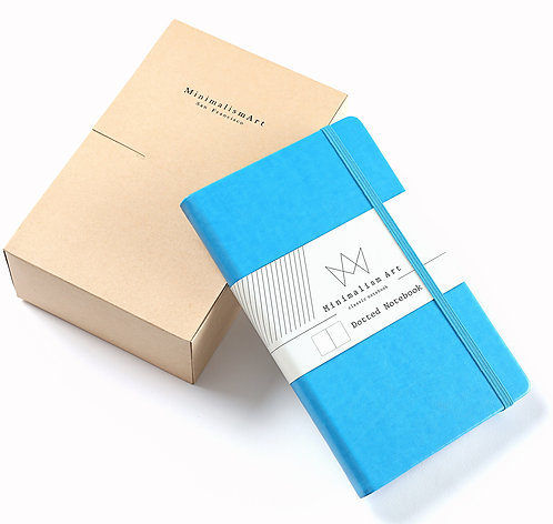 """3-Pack, Classic Hard Cover Notebook - 5 X 8.3"""" - Blue"""