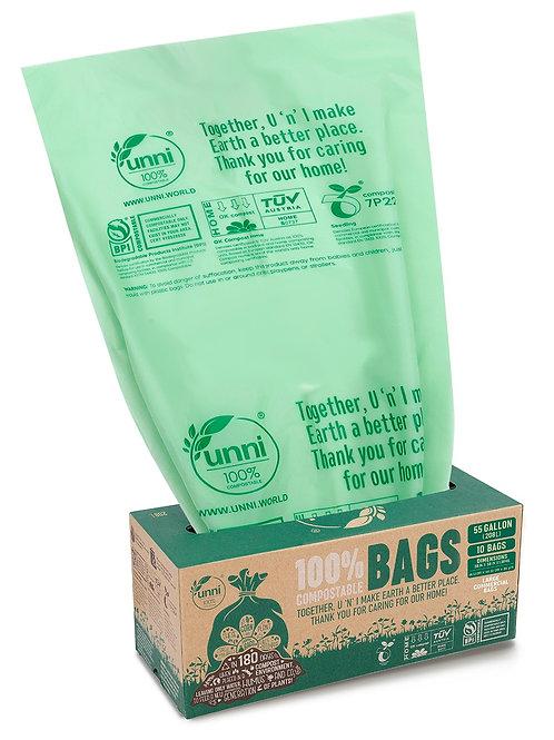 55 Gallon Compostable Large Trash Bags