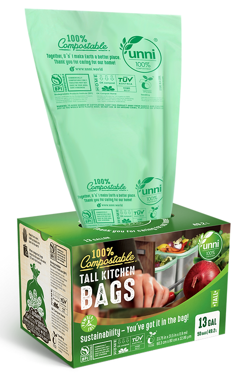 13 Gallon Tall Kitchen Food Scrap Bag