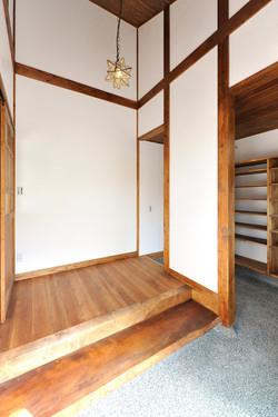 玉砂利洗い出しの玄関