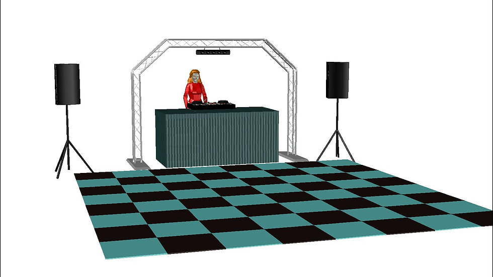 Compact DJ equipment package hire