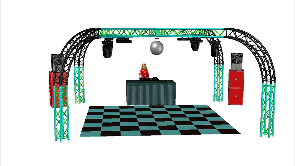 Large DJ equipment package hire