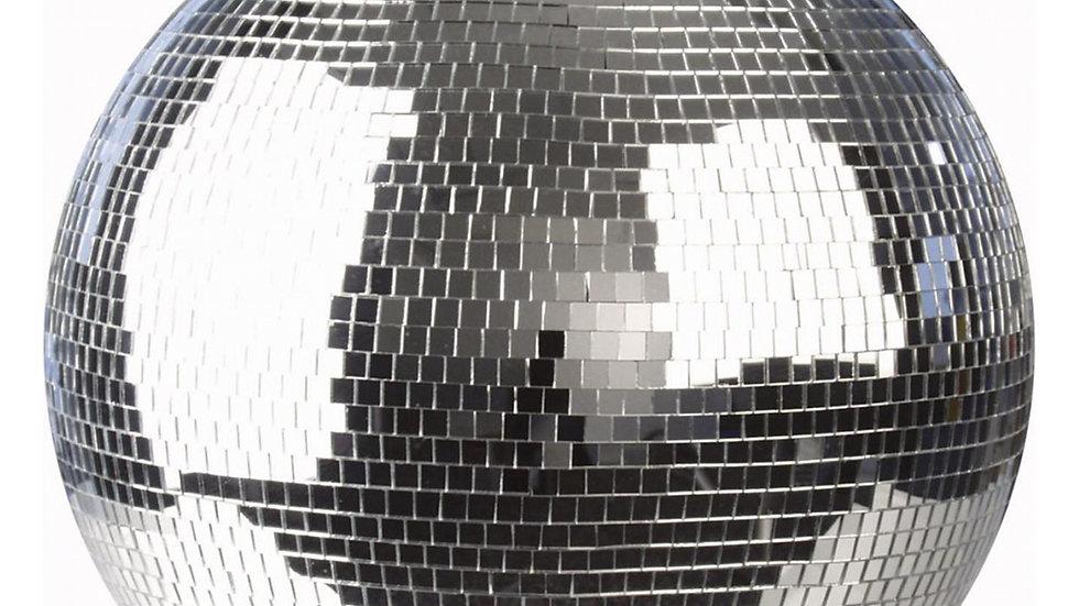 50cm professional mirror ball hire.