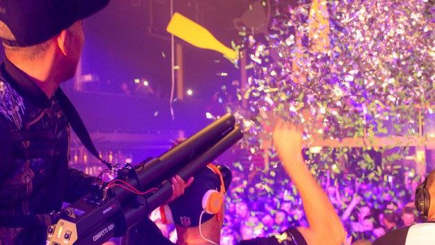 Confetti Cannon hire.