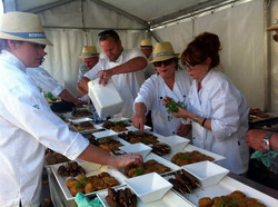 Professionals at work - we feed 250!