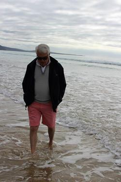 Graham walking on Lorne Beach Victoria