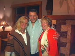 Great Dinner with Manu and Jan at Centennial Vineyards tonight...