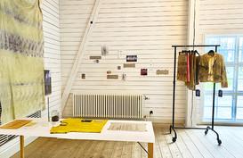 Herbal dye exhibition