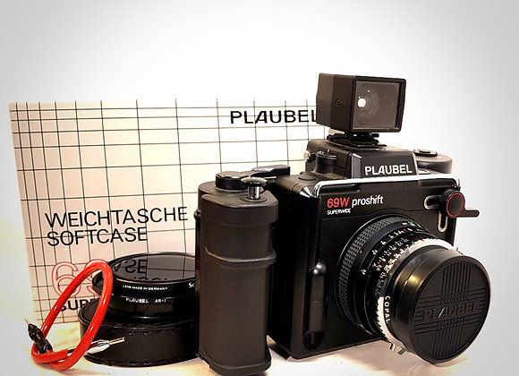 PLAUBEL 69W PROSHIFT SUPERWIDE WITH 47MM F5.6 LENS. MINT-