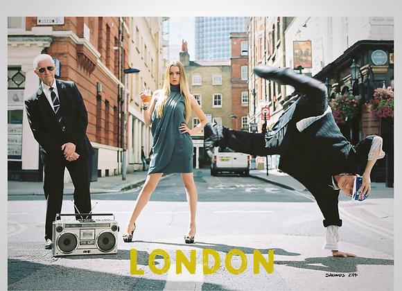 BREAK DANCING LONDON POSTCARD