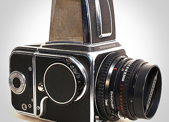 500C WITH 80MM F2.8 CT* PLANAR LENS & 12 ON BACK. EXC++