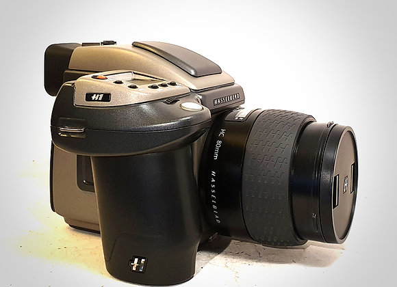 H1 WITH 80MM F2.8 HC LENS & HM16-32 FILM BACK. EXC+++