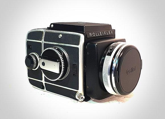 ROLLEIFLEX SL66 WITH 80MM F2.8 PLANAR LENS & FILM BACK. NEAR EXC+++