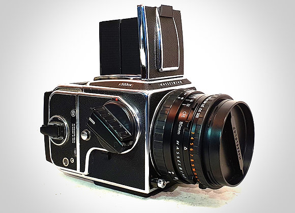 503CW WITH 80MM F2.8 CFET* PLANAR LENS & A12 BACK. NEAR EXC+++