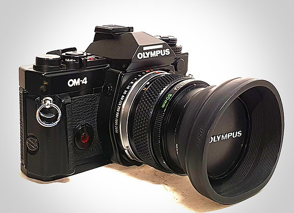OLYMPUS OM4 WITH 50MM F1.4 LENS. NEAR EXC+++