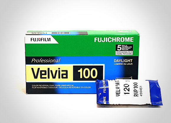 FUJI VELVIA 100 RVP COLOUR SLIDE FILM - 120