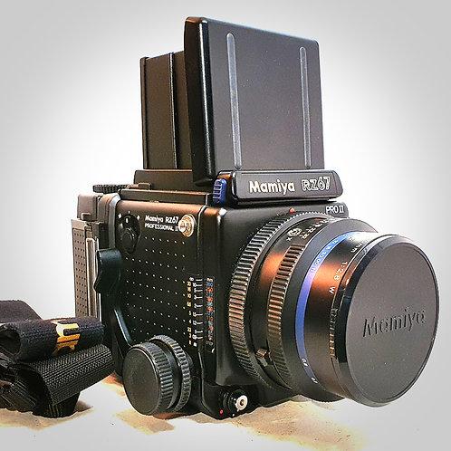 MAMIYA RZ67 PRO II WITH 110MM F2.8W SEKOR Z LENS &  PRO II 120 BACK. EXC+++
