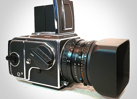 501CM WITH 80MM F2.8 CFET* PLANAR LENS & A12 LATER BACK. NEAR MINT-