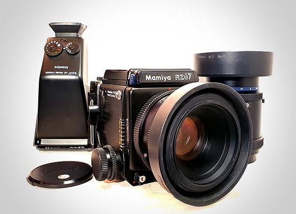 MAMIYA RZ67 PRO II WITH 110MM F2.8 & 180MM F4.5 LENSE, 2 X BACKS. EXC+++
