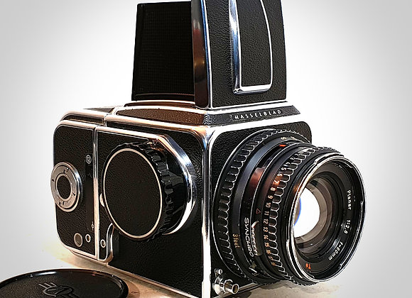 500C WITH 80MM F2.8 CT* PLANAR LENS & 12 ON BACK. EXC