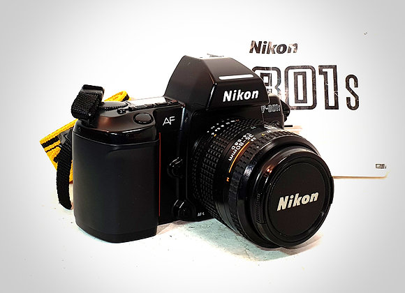 NIKON F801S WITH AF NIKKOR 35-80MM F1.4-F5.6 LENS. EXC++